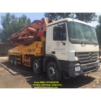China 48 Meter Sany Used Concrete Pump Truck 11420 * 2500 * 4000 Mm Diesel Power on sale