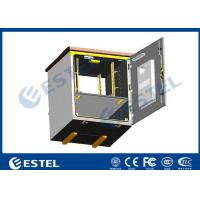 Wholesale Outdoor Pole Mounted Telecom Cabinet / Small Enclosure For Pole Mount With 19 Inch Rack Battery Shelf from china suppliers