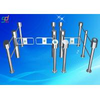 Wholesale RFID Pedestrian Security Passageway Swing Barrier Gate Bar Code Reader from china suppliers