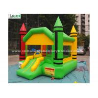 Wholesale Indoor Mini Crayon Jumping Castles For Adults / Backyard Obstacle Course Fun from china suppliers