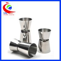 Wholesale Attractive Cocktail Measuring Cup Washable 20ml - 50ml Crimping 304 Stainless Steel from china suppliers