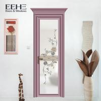 China Multi Color House Toilet Aluminium Swing Door With Non - Thermal Break Profile on sale
