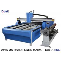 Wholesale Blue CNC Plasma Metal Cutting Machine / Industrial Plasma Cutter With Rotary Axis from china suppliers