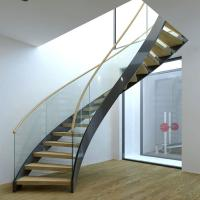 Wholesale Best Selling Stainless Steel Modular Round Curved Stairs with Customized Service from china suppliers