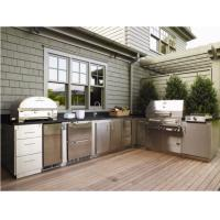 Buy cheap 304 Stainless Steel Kitchen Cabinets Anti - Scratches Customized Outdoor Bbq from wholesalers