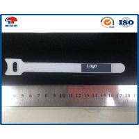 China 12.5mm * 150mm White releasable cable tie Hook Loop with label use on electric wire and cable on sale
