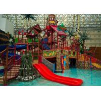 Buy cheap Adults Aqua Water Playground Equipment , Big Water House Maya Style Theme Park Slide from wholesalers