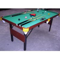 Quality Solid Wood Billiards Game Table Folding 6FT Kids Snooker Table With Leather Pocket for sale