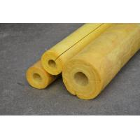 Wholesale High Temp Glass Wool Pipe Insulation , Yellow Glasswool Pipe Cover from china suppliers
