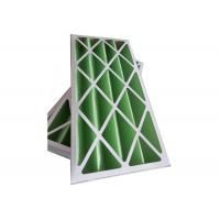 Buy cheap Rigid Pleated Panel Air Filters , Clean Room Pre Filter G1 - G4 With Cardboard from wholesalers