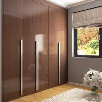 Wholesale Custom Brown Lacquered Hinged Door Wardrobes Particle Board 3 Years Warranty from china suppliers