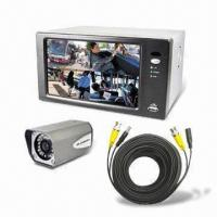Wholesale All-in-one 7-inch 4CH LCD/DVR Combo with Built-in Color CCD Camera and Lens from china suppliers