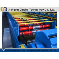 Wholesale Colored Steel Trapezoidal Decking Tile Making Machine With Hydraulic Post Cutting from china suppliers