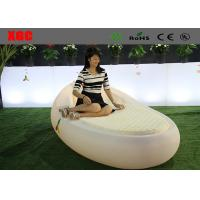 Wholesale Upscale Style Oval Shape LED Light Bed Cube Side Table For Swimming Pool from china suppliers