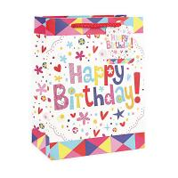 Wholesale Creative brown birthday paper gift shopping bag wholesale small medium large size from china suppliers