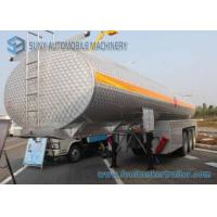 Wholesale SUS304 Chemical Liquid Oil Tank Trailer 35000L Alcohol Tanker 3 Axles from china suppliers