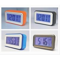 Quality Plastic Square Shape and Larger Screen LCD Electronic Desktop Calendar with Alarm Clock for sale