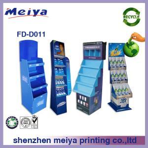 China 350g CCNB + K3 Corrugated cardboard Pop Display stand/rack CMYK / Pantone Colors Glossy Varnishing For WM supermarket on sale