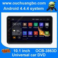 Wholesale Ouchuangbo android 4.4 10.1 inch Universal car DVD gps with 1024*600 4 core AUX 3G WIFI from china suppliers