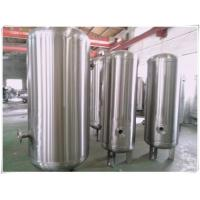 Wholesale Elliptical Dish End Stainless Steel Air Receiver Tank , Pneumatic Pressure Vessel from china suppliers