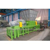China Plastic Film Industrial Waste Shredder Double Shaft Customizable Capacity on sale