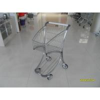 Wholesale Zinc Plated PPG Powder Coating  Market Shopping Trolley With Elevator Casters from china suppliers
