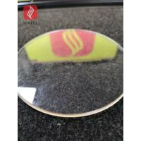 China Glass manufacturer customized shapped heat tempered glass 6mm low-iron with polished edges round shape on sale