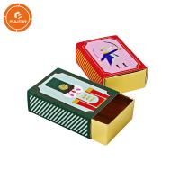 China Reliable Fancy Safety Match Box Glossy Lamination UV Coating Printing Handling for sale