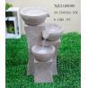 Grey Garden Polyresin Water Fountain With Stone Effect 39 X 36.5 X 63.5 Cm