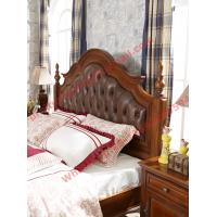 Wholesale Leather Upholstery Headboard with Wooden Carving Frame in Bedroom Furniture sets from china suppliers