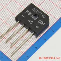 Wholesale 6A 600V diode bridge rectifier kbu606 from china suppliers