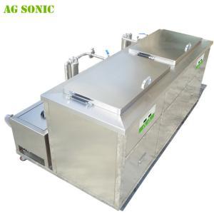Double Tanks Ultrasonic Engine Cleaner , Waterproof Engine Block Washing Machine