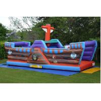 Wholesale Waterproof Blow Up Pirate Ship Bouncy Castle Ahoy Matey Jumping Castle With Slide from china suppliers