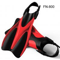 Quality Red Rubber Skin Diving Fins Soft Comfortable Foot Pocket For Swimming for sale