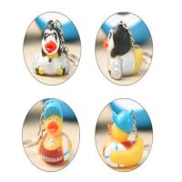 Wholesale Children Funny Mini Duck Keychains Soft PVC Eco - Friendly Material OEM / ODM from china suppliers