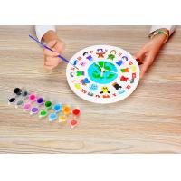 "Wholesale DIY Painting Battery Powered 9 "" Wall Clock Art And Craft Kits For Children from china suppliers"