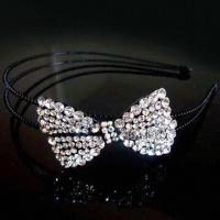 Wholesale Headband, Decorated with Rhinestones, Made of Zinc Alloy, Small Orders are Welcome from china suppliers