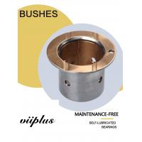 Wholesale Shaft Oil Grooves & Lock Flange Bimetal Bearings Bushes with Oil Indentation CuSn10Pb10 from china suppliers