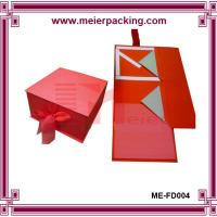 Quality Foldable Flip Top Tied with Ribbon Cardboard Box for Gift Packing ME-FD004 for sale