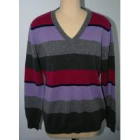 Quality Classic Style Stripe Men Knit Sweater Pullover OEM / ODM Available for sale