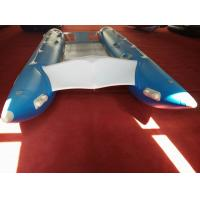 China PVC Fabric Catamaran Work Boat 450cm Inflatable Catamaran Boats For Water Sports on sale
