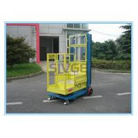 Quality One Person Aluminum Mobile Elevating Working Platform Mast Type For Supermarket for sale