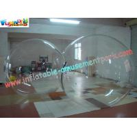 China TPU Transparent Color Inflatable Zorb Water Ball For Swimming Pool , TIZIP Zipper on sale
