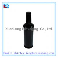 Wholesale Luxury bottle shaped wine tin box from china suppliers