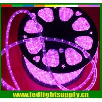 China 12/24V pink outdoor decoration light 2 wire led rope lights strip on sale