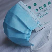 Wholesale 50pcs/box high quality 3ply disposable non woven ear loop face mask for civil with CE EU FPE95 from china suppliers
