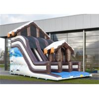 Wholesale Full Print Commercial Inflatable Slide, Attractive Inflatable Playground Slide With House Design from china suppliers