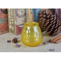 Wholesale Custom Soda Lime Glass Candle Container For Home Decor , Yellow from china suppliers