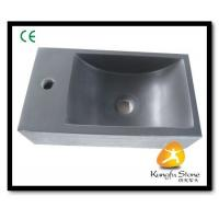 Xiamen Kungfu Stone Ltd supply Grey Andesite Stone Sink For Indoor Kitchen,Bathroom for sale