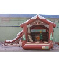 Wholesale Christmas Inflatables Decorations Bounce House Slide Combo With Slide During Winter from china suppliers